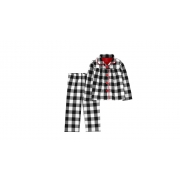 Pijama 2 Peças Preto e Branco