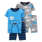 Pijama 4 pecas azul tubarao martelo