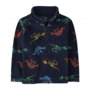 Sweater fleece marinho dinossauro