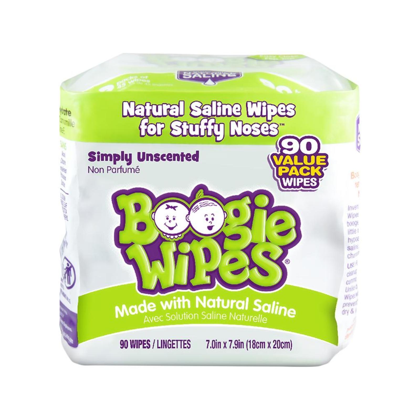 Boogie Wipes Sem Cheiro - 90 unidades