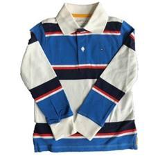 Camiseta Pólo Azul Royal e Branca | 4-5 anos