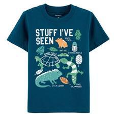 Camiseta Reptil Azul
