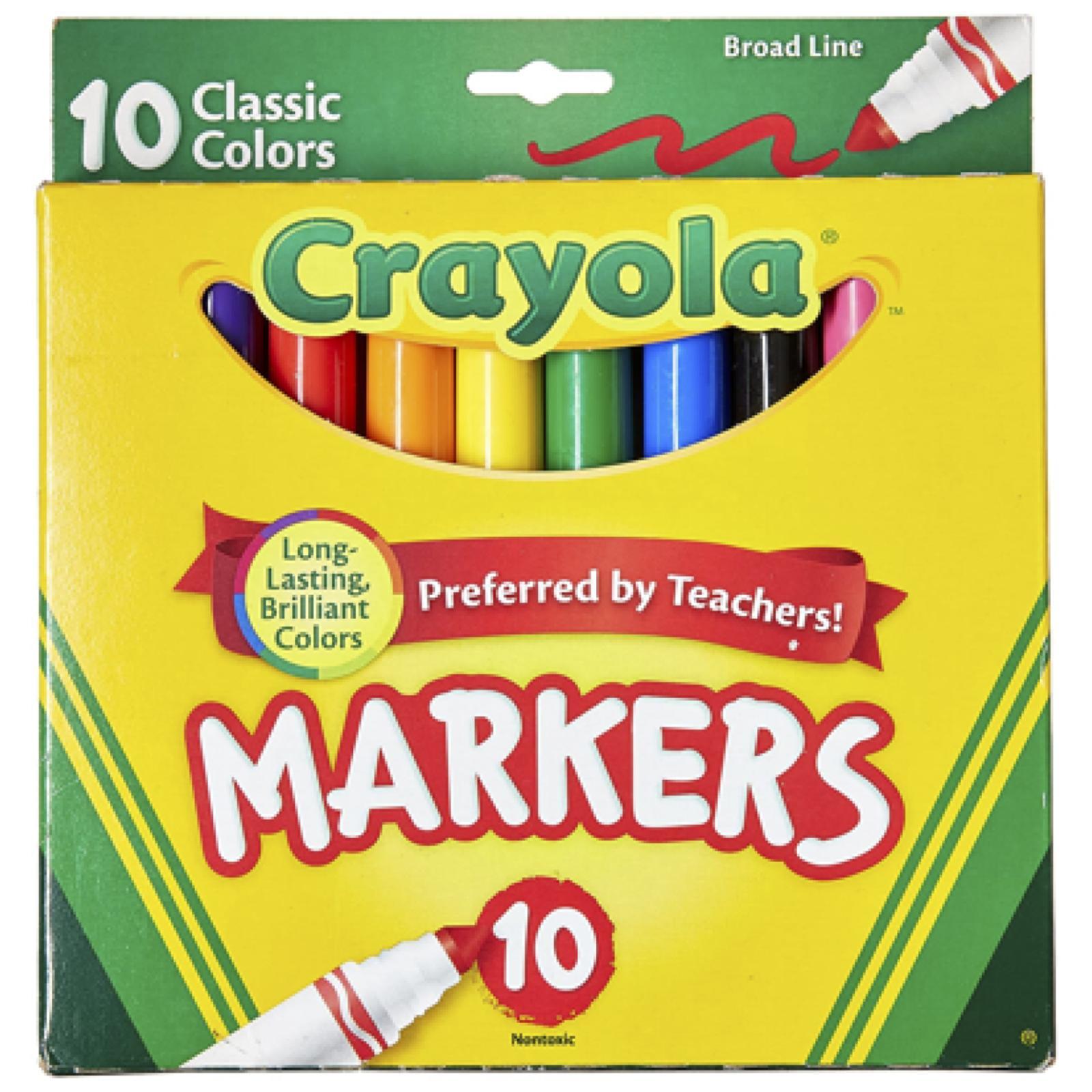 Canetinha Ponta Grossa Crayola - 10 cores