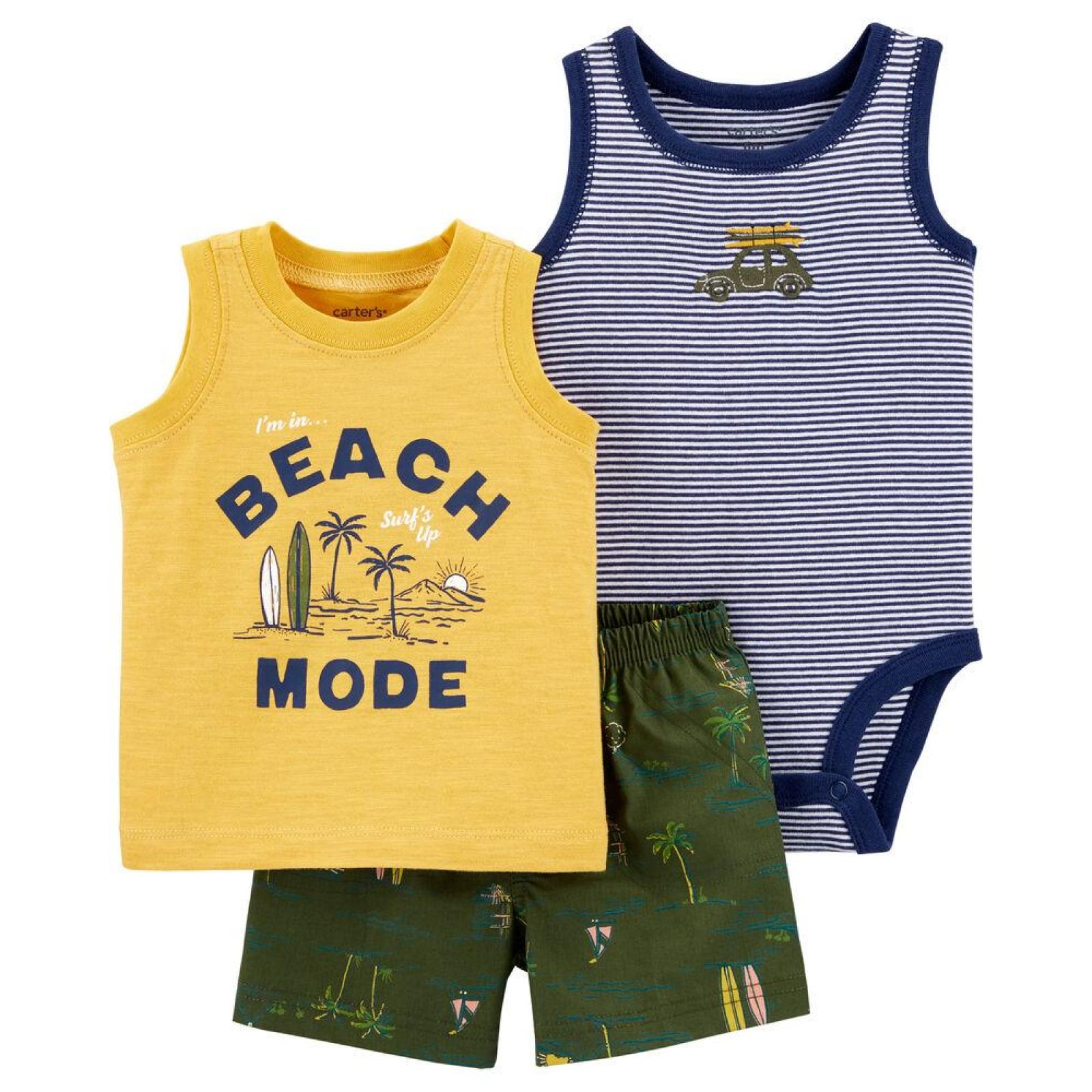 Conjunto 3 pecas Beach