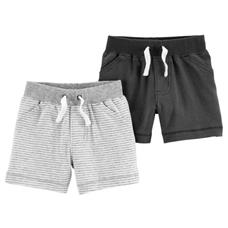 KIT 2 Shorts Mesclado e Cinza | 06 meses