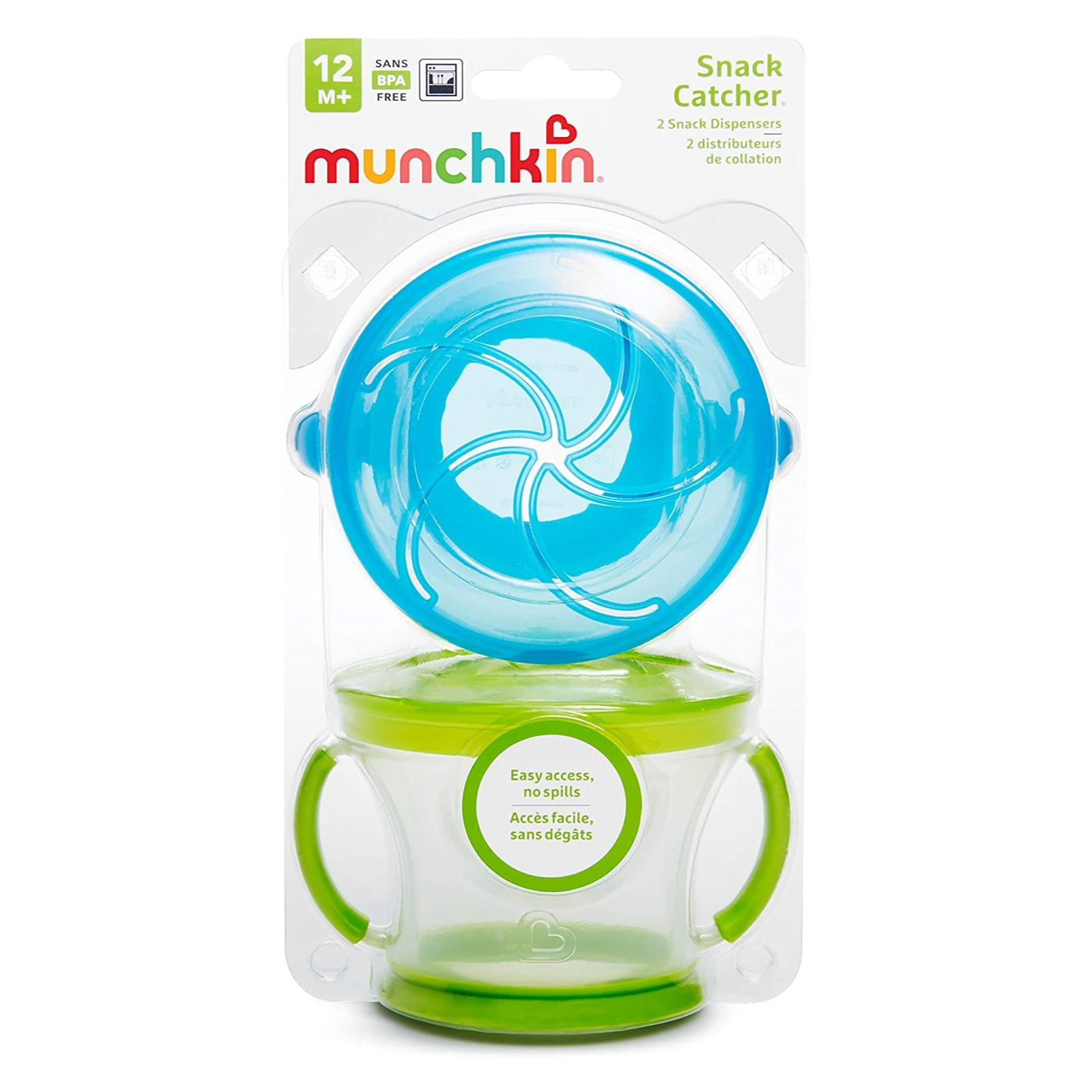 Kit com 2 Porta Snack Azul e Verde - Munchkin