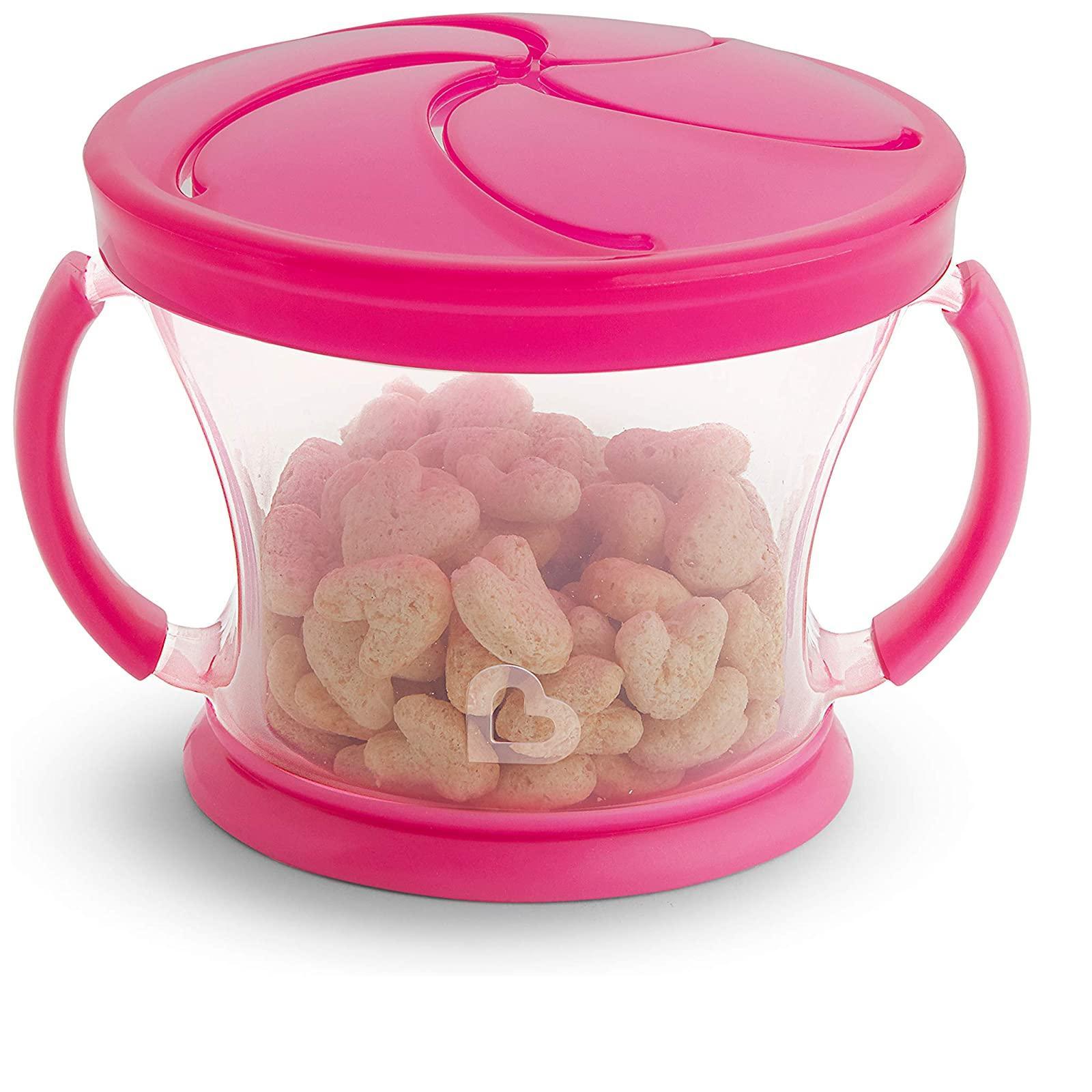 Kit com 2 Porta Snack Rosa e Roxo - Munchkin