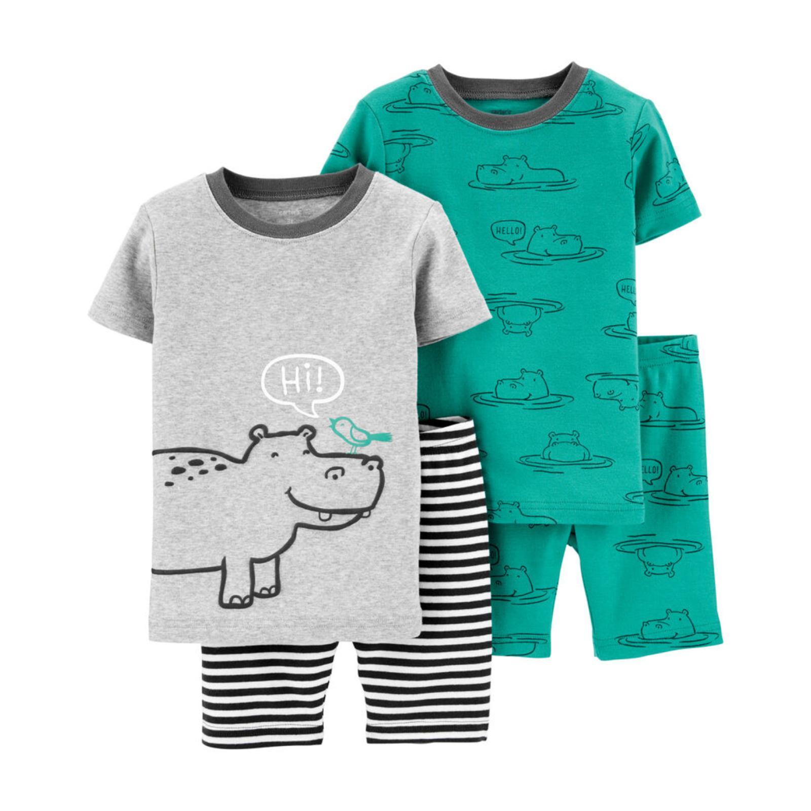 Pijama 4 peças hipopótamo | 24 meses