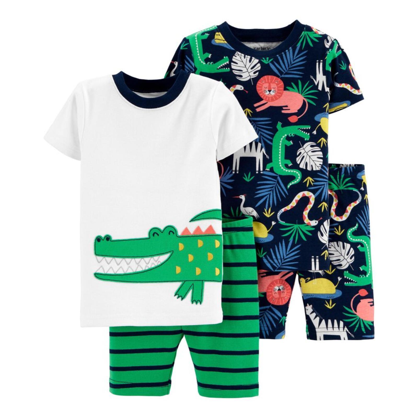Pijama 4 pecas jacare | 18m e 24m