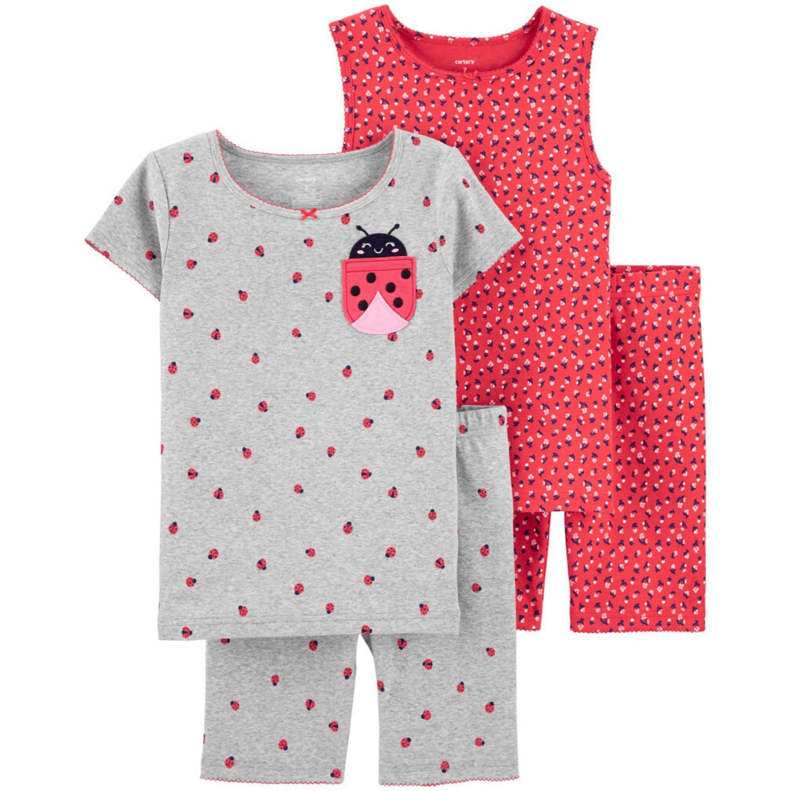 Pijama 4 peças joaninha | 6 anos