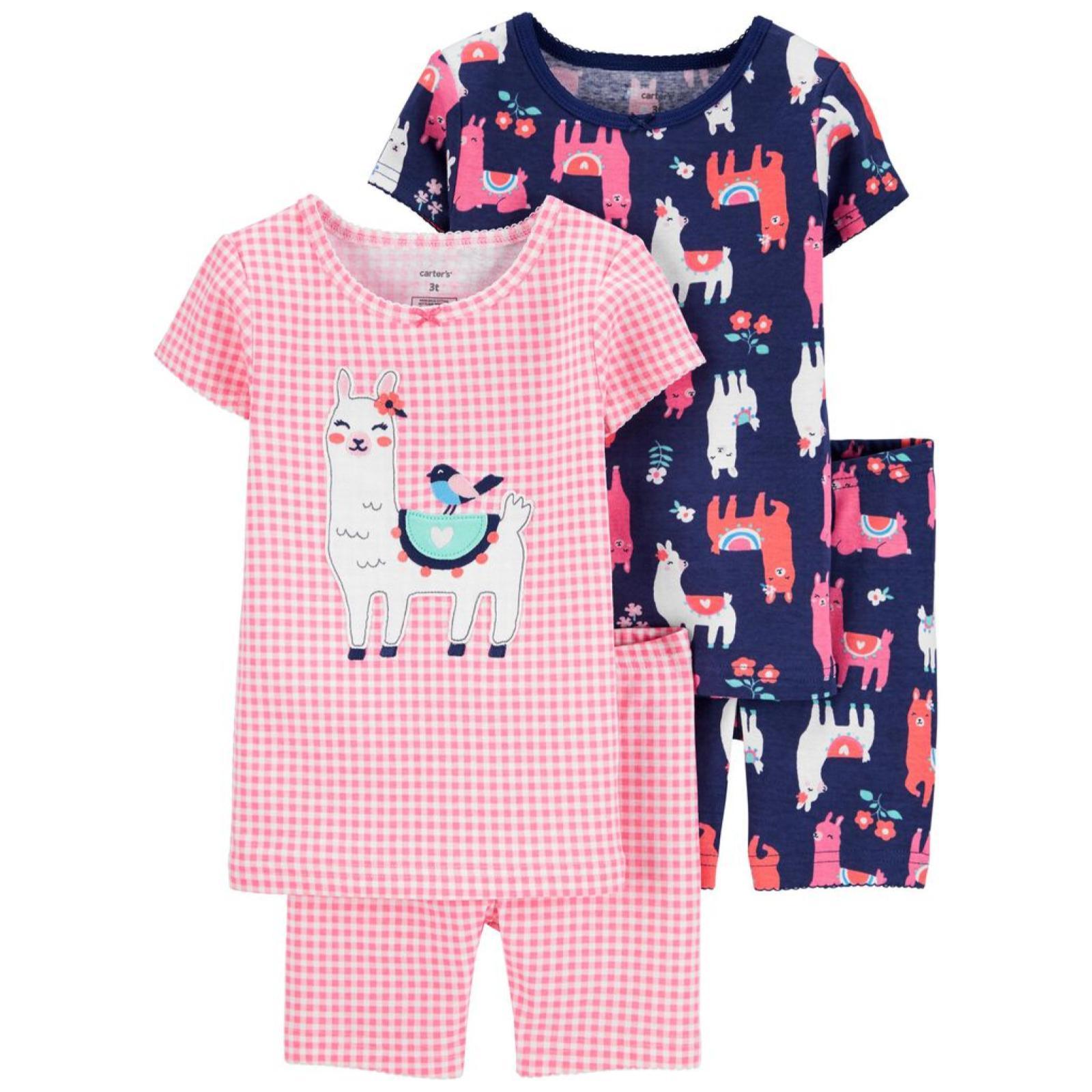 Pijama 4 pecas lhama | 18 meses e 12 meses