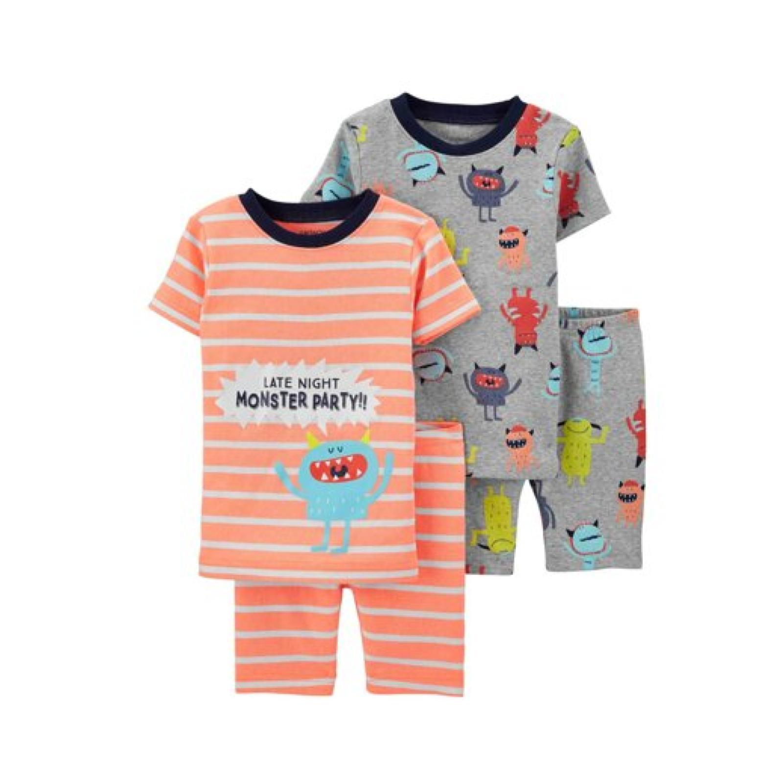Pijama 4 peças monstro | 2 anos