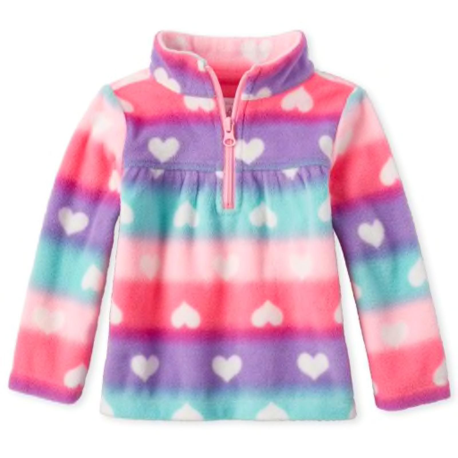 Sweater Fleece Corações | 4T
