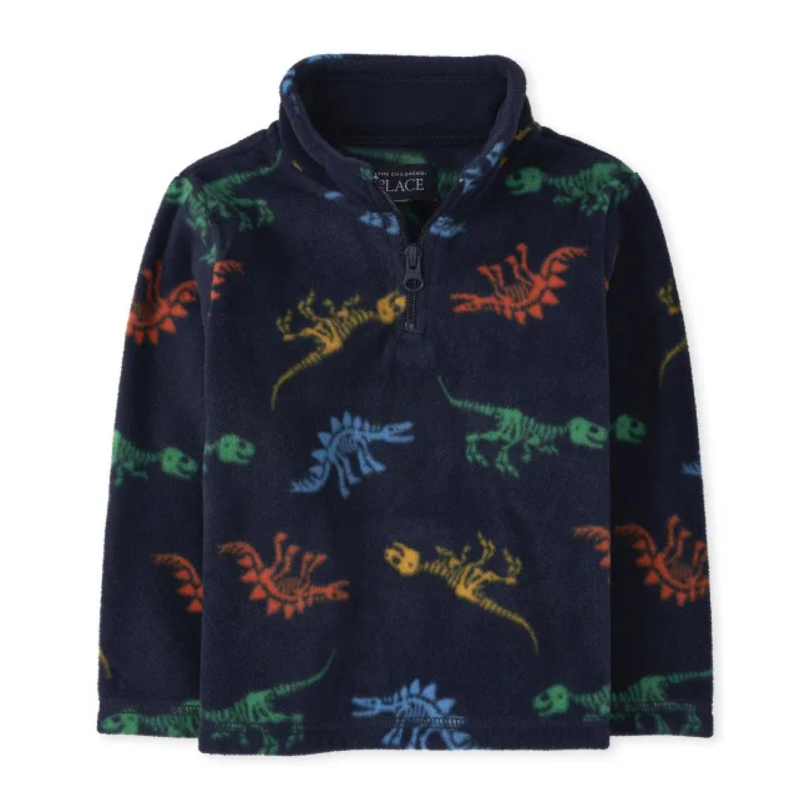 Sweater fleece marinho dinossauro