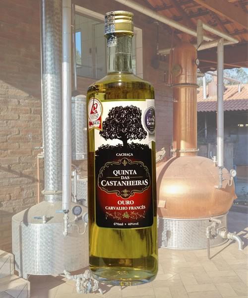 Cachaça Ouro Carvalho Francês-670ml