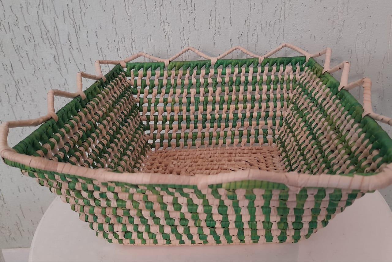 Embalagem Cesta quadrada verde
