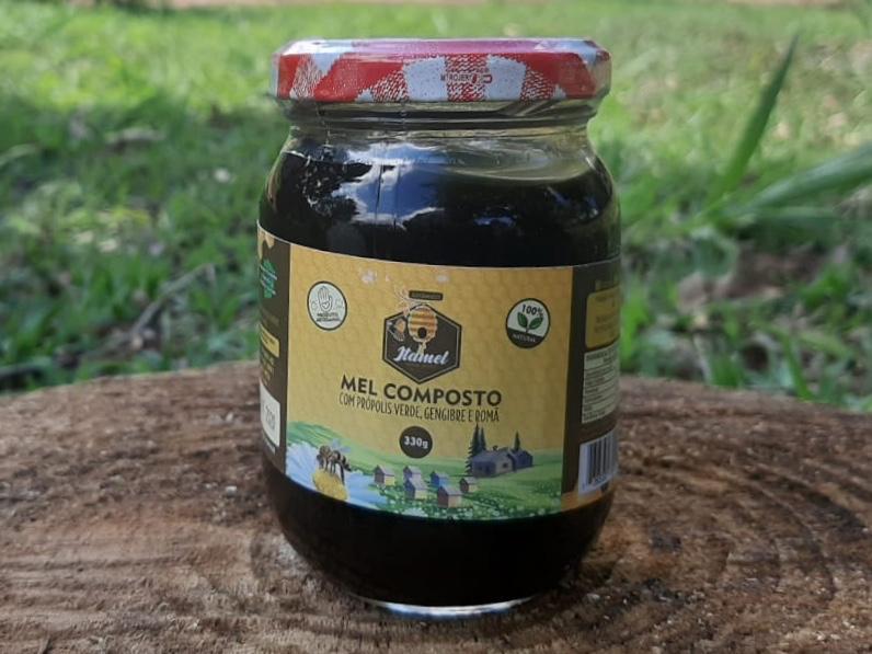 Mel composto Gengibre e Romã - 350g