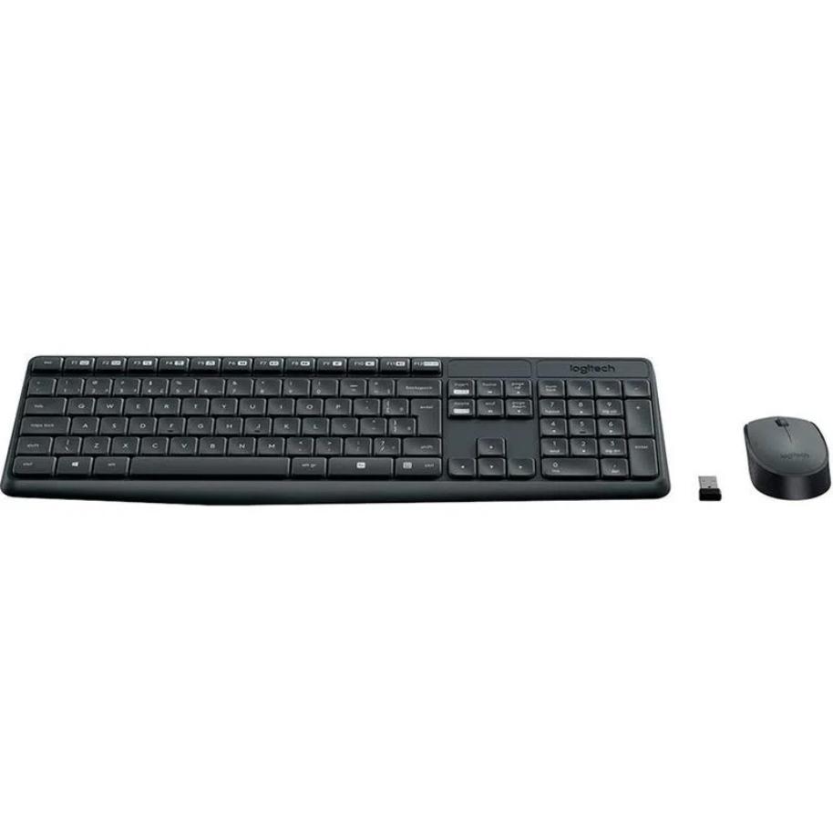KIT Teclado e Mouse S/fio Mk235 Logitech RESISTENTE À ÁGUA