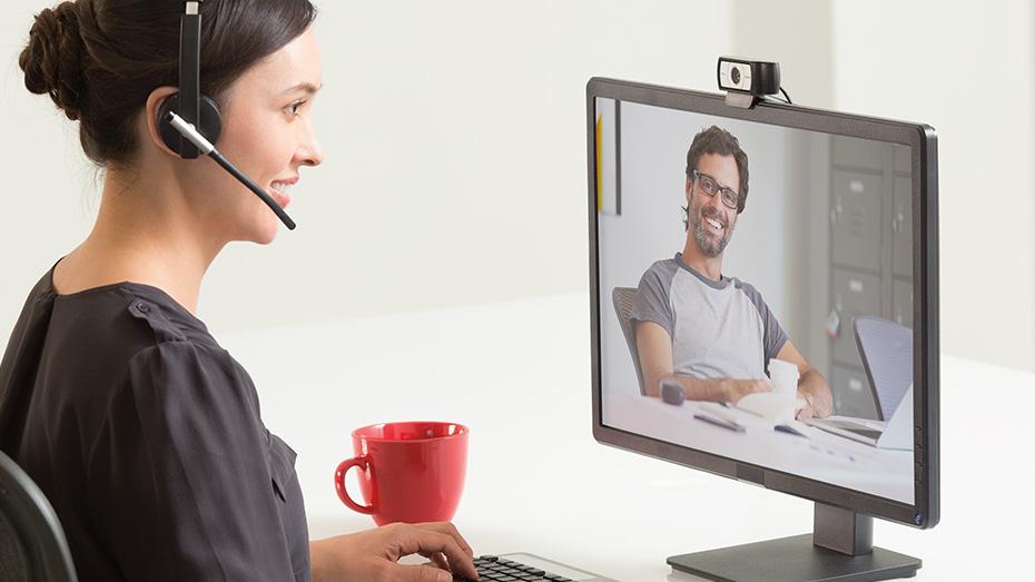 Webcam USB Full HD 1080p C930e com Microfone Logitech
