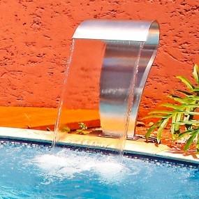 Cascata para piscina Canyon Aço Inox Jr