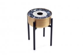 Lareira Ecológica Modelo Tocha Dourada Média - K3 Imports