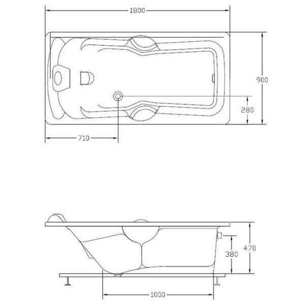 Banheira de Hidromassagem Acrillic Individual Standard 05 Jatos