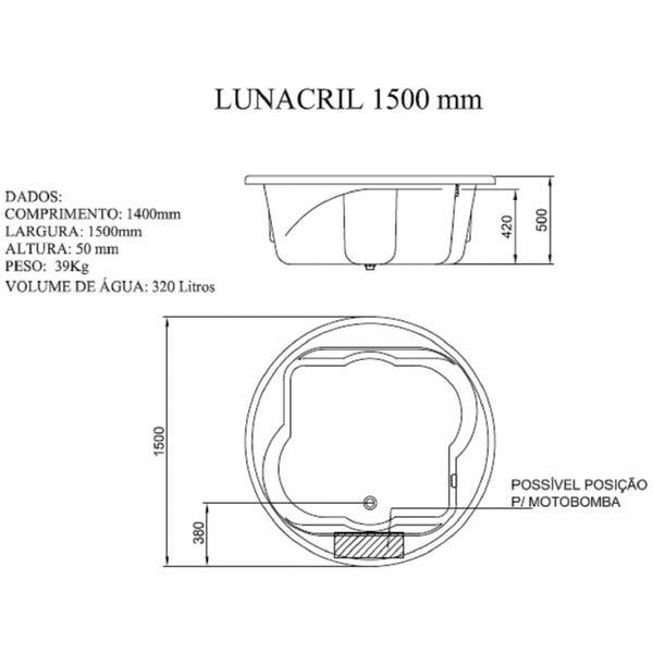 Banheira de Hidromassagem Lunacril Premium 06 Jatos