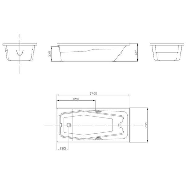 Banheira Hidromassagem Acrilbath Standard 03 Jatos