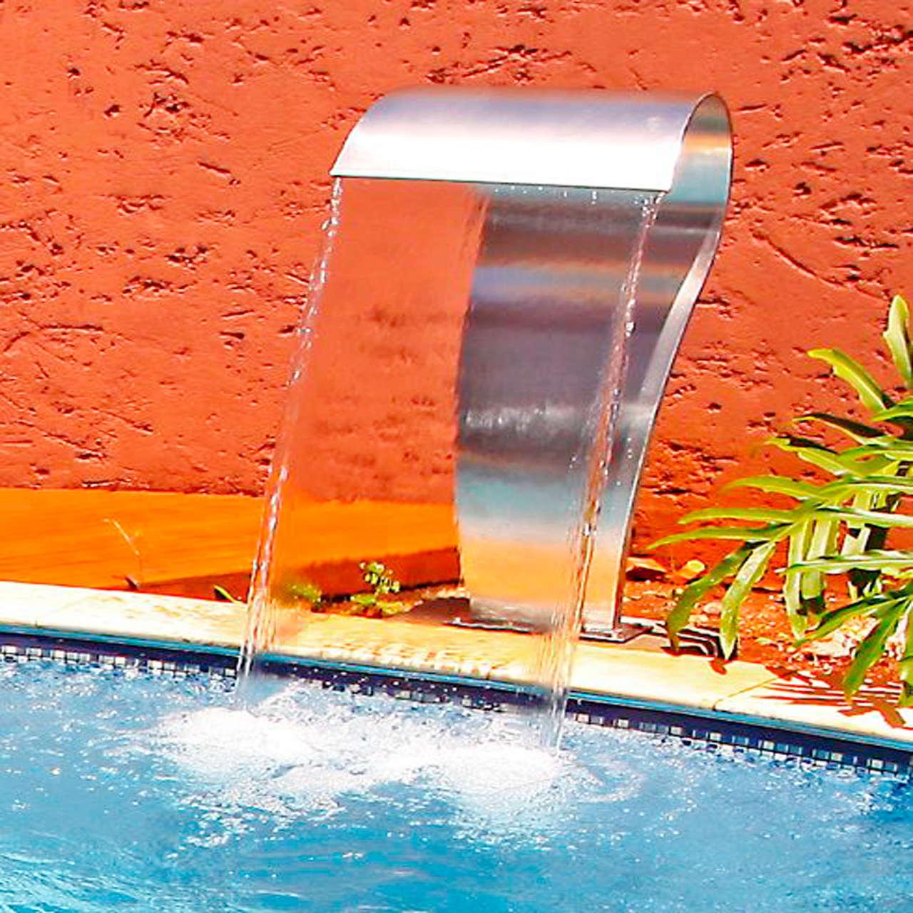 Cascata para piscina em Aço inox Canyon