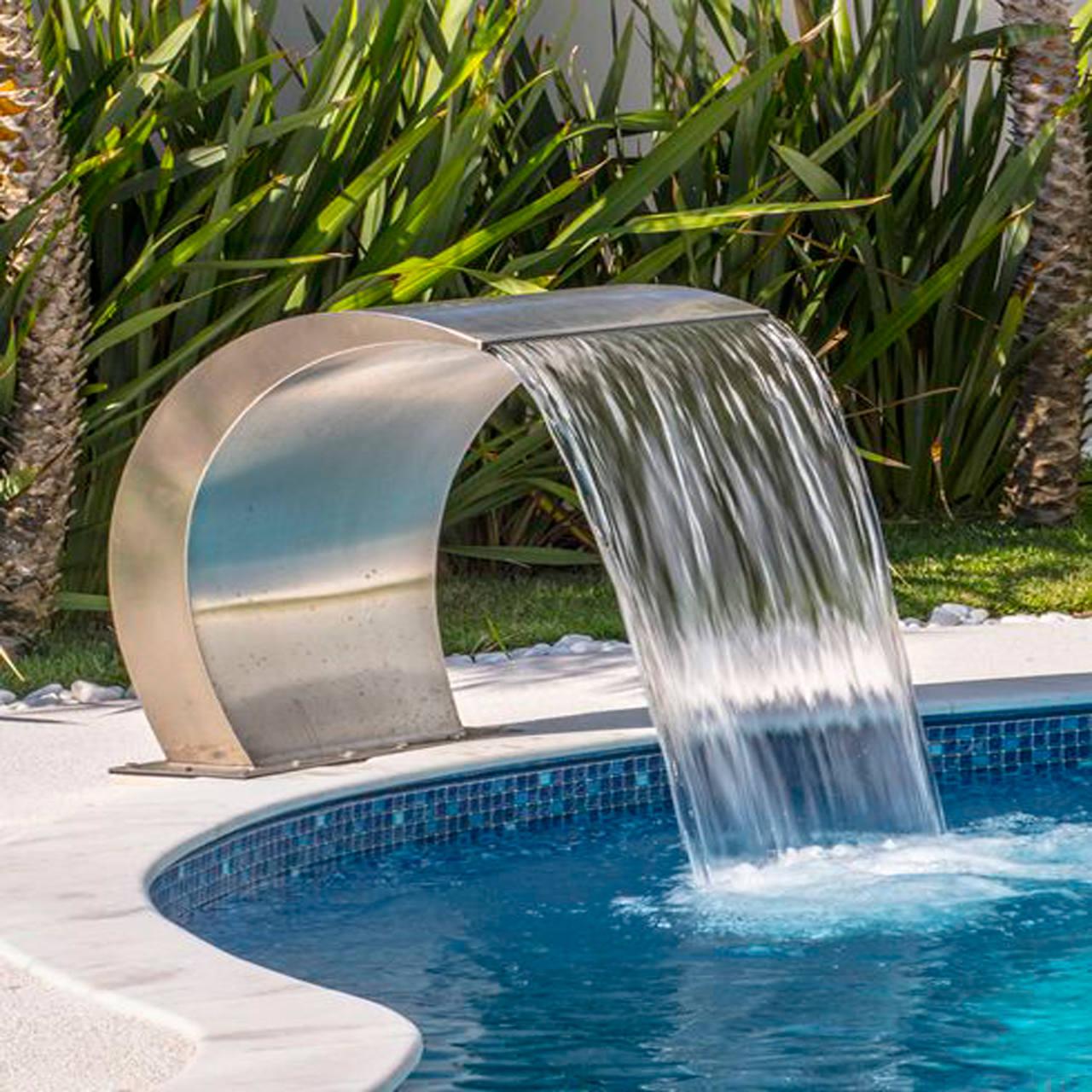 Cascata para piscina em Aço inox Victória
