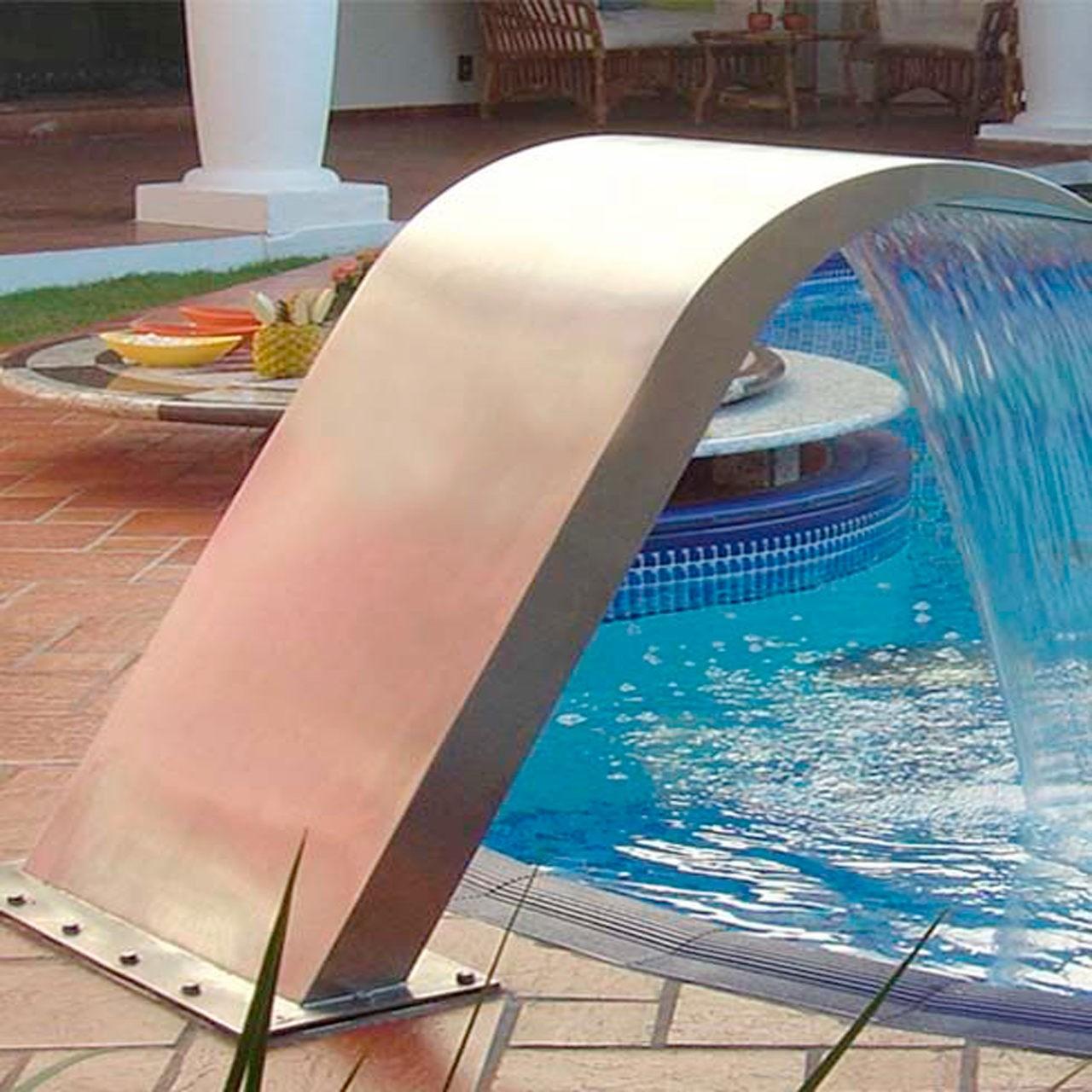 Cascata para piscina Inox Iguaçu