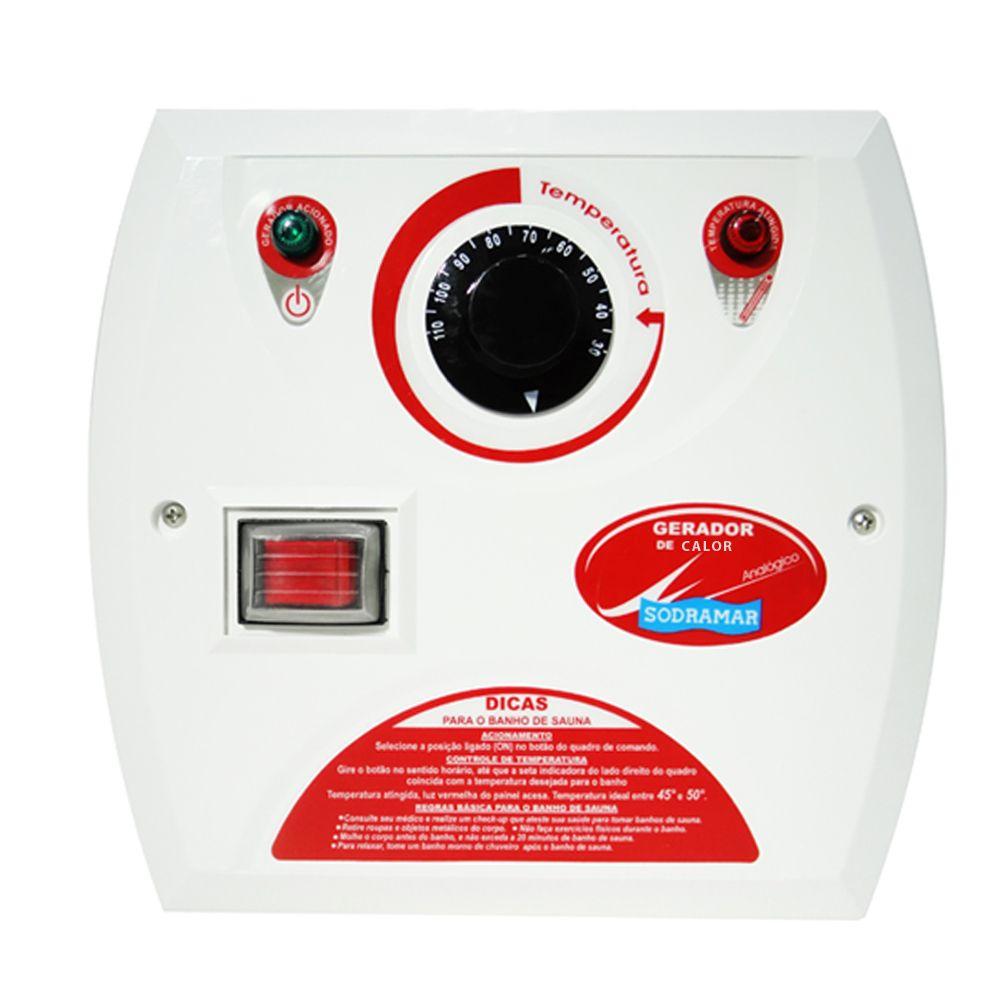 Comando Analógico Contactor 50A para Sauna Seca
