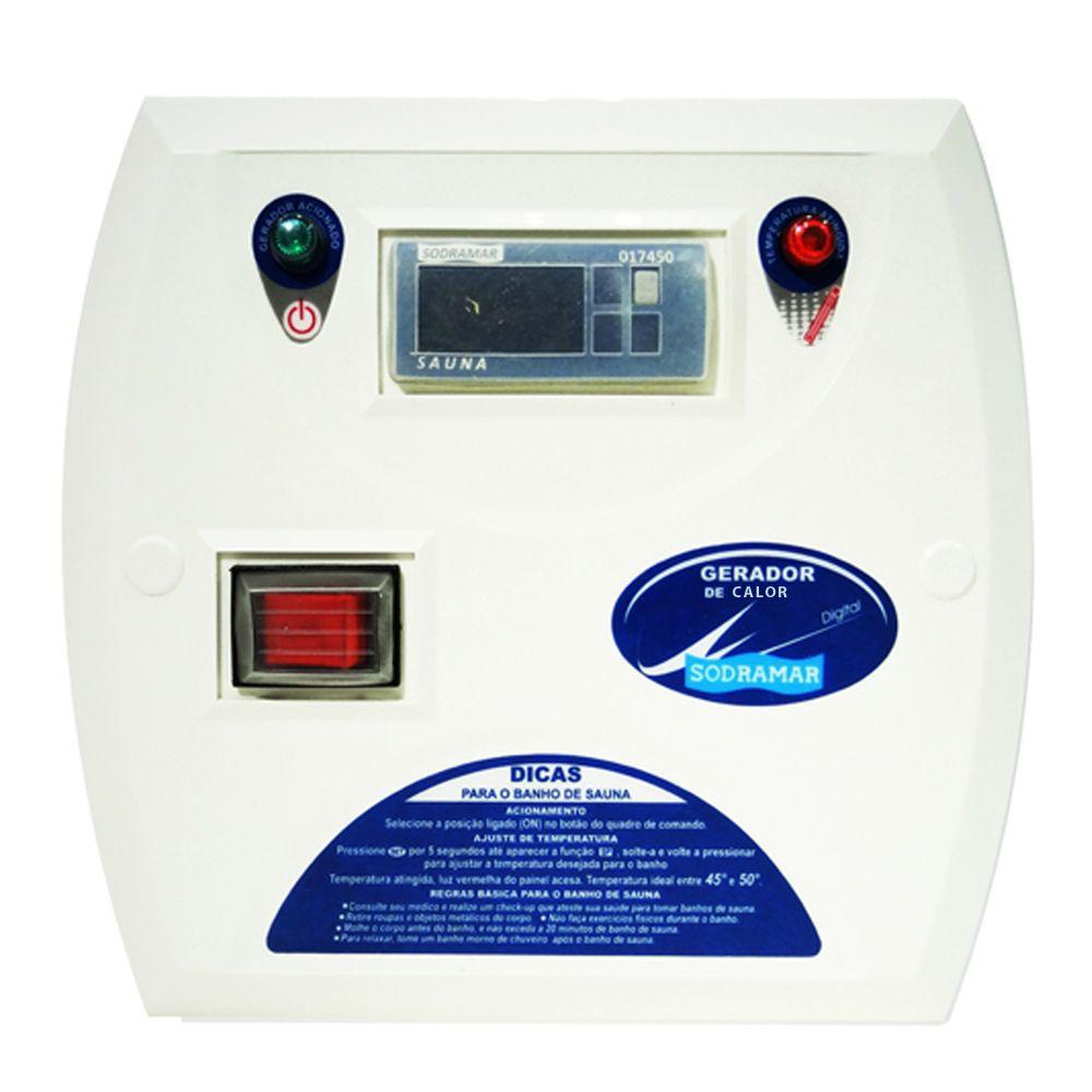 Comando Digital Contactor 50A para Sauna Seca