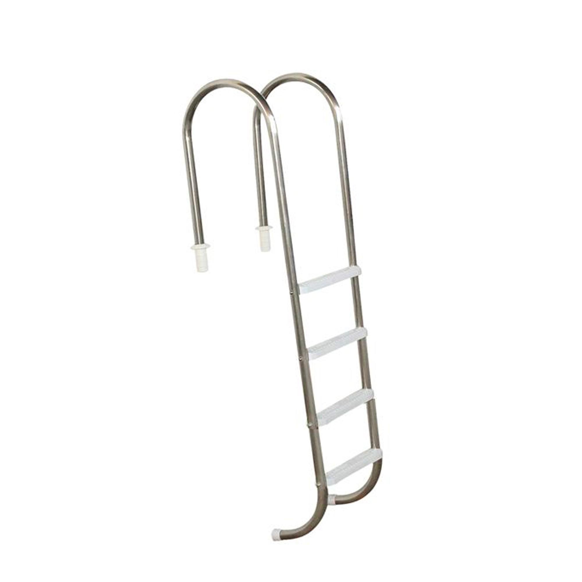 """Escada Marinheiro 1 1/2"""" em Aço Inox 4 Degraus Anatômicos em ABS"""