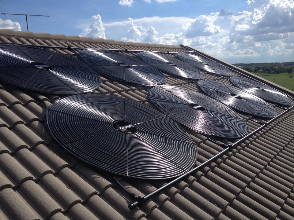 Kit 14 Aquecedores Solar para Piscina Girassol -  Placa G1