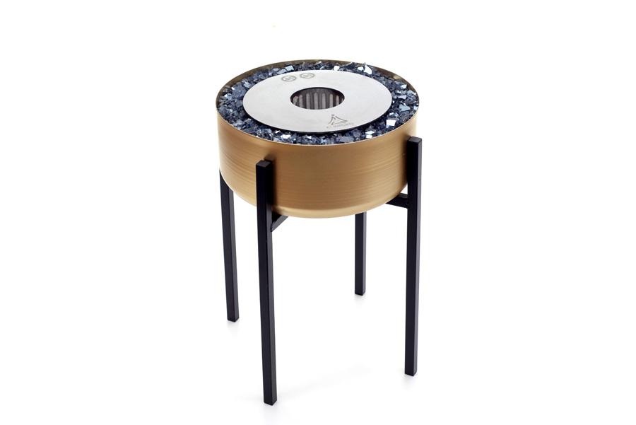 Lareira Ecológica Modelo Tocha Dourada Grande - K3 Imports