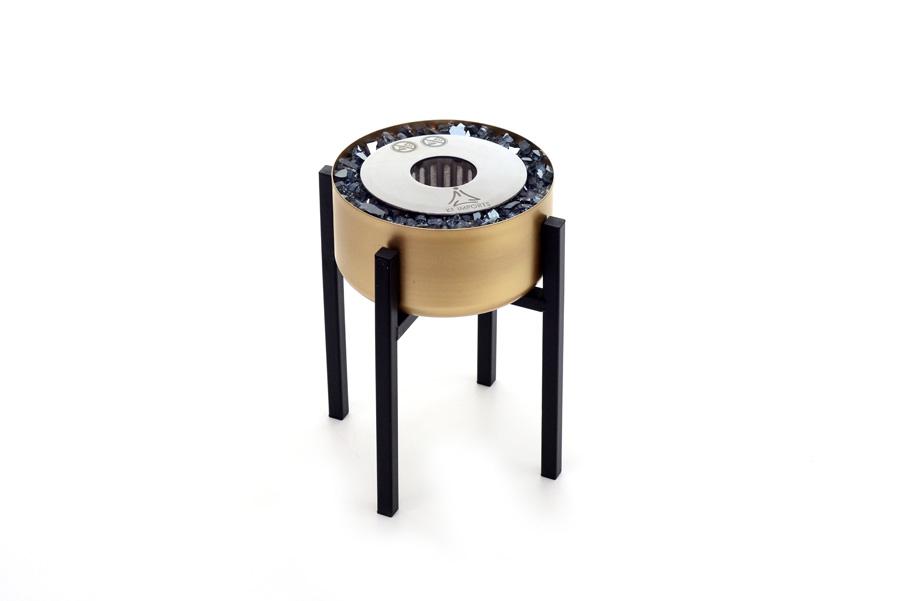 Lareira Ecológica Modelo Tocha Dourada Pequena - K3 Imports