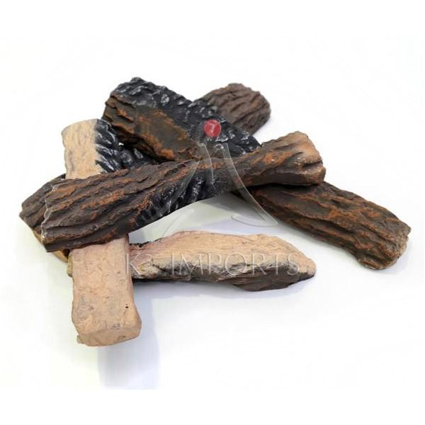 Lenha Cerâmica - Conjunto de 5 Peças