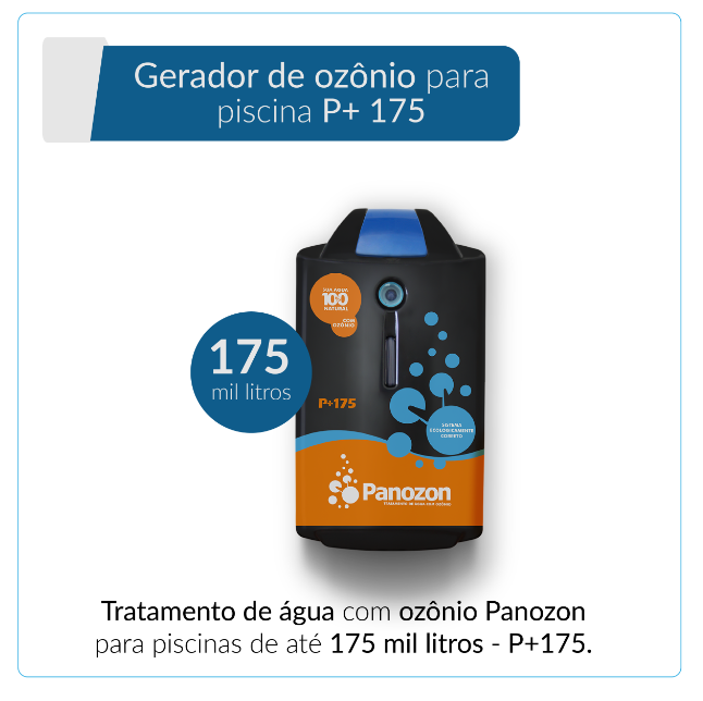 Panozon P+175 - Gerador de Ozônio para Piscina de até 175.000 litros