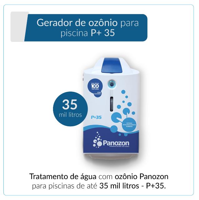 Panozon P+35 - Gerador de Ozônio para Piscina de até 35.000 litros