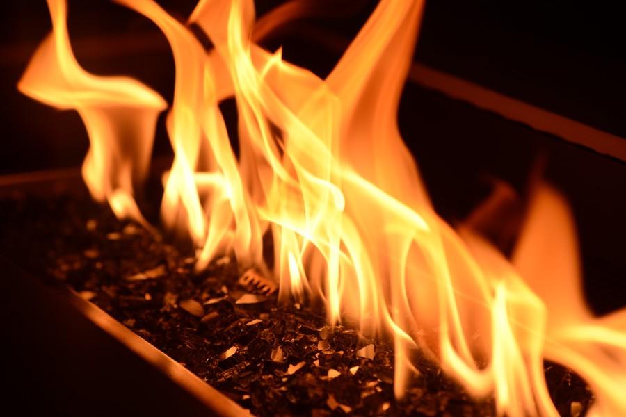 QUEIMADOR FIRE PIT  PARA ÁREAS EXTERNAS - RETANGULAR
