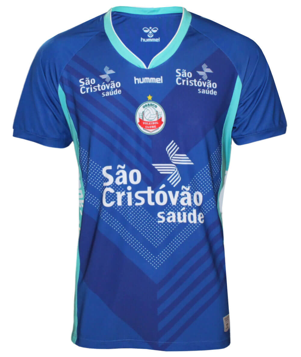 Camisa de Vôlei Osasco 2020/21 Azul - S/N° - Masculina