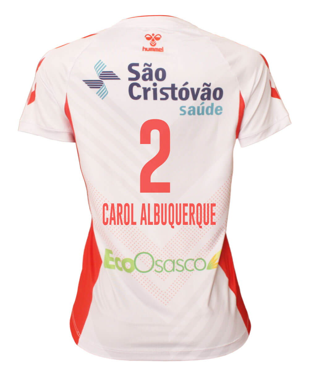 Camisa de Vôlei Osasco 2020/21 Branca - N°2 Carol Albuquerque - Feminina