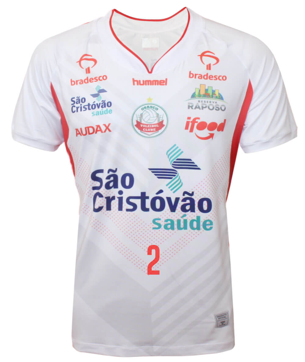 Camisa de Vôlei Osasco 2020/21 Branca - N°2 Carol Albuquerque - Masculina