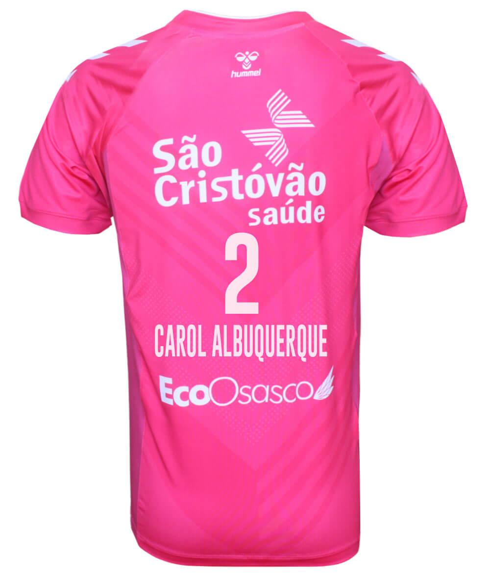 Camisa de Vôlei Osasco 2020/21 Rosa - N°2 Carol Albuquerque - Masculina