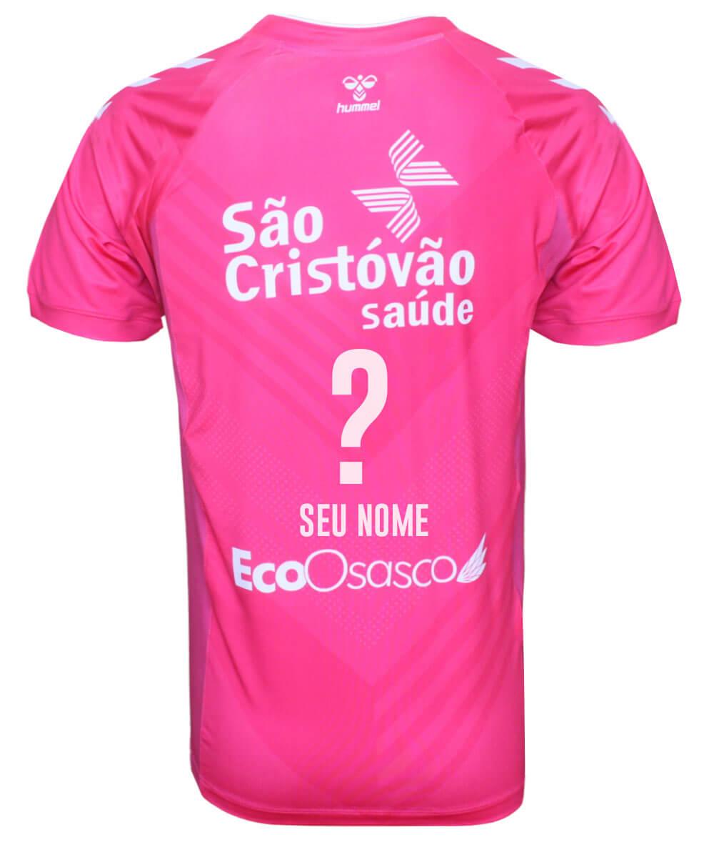 Camisa de Vôlei Osasco 2020/21 Rosa - Personalizada - Masculina