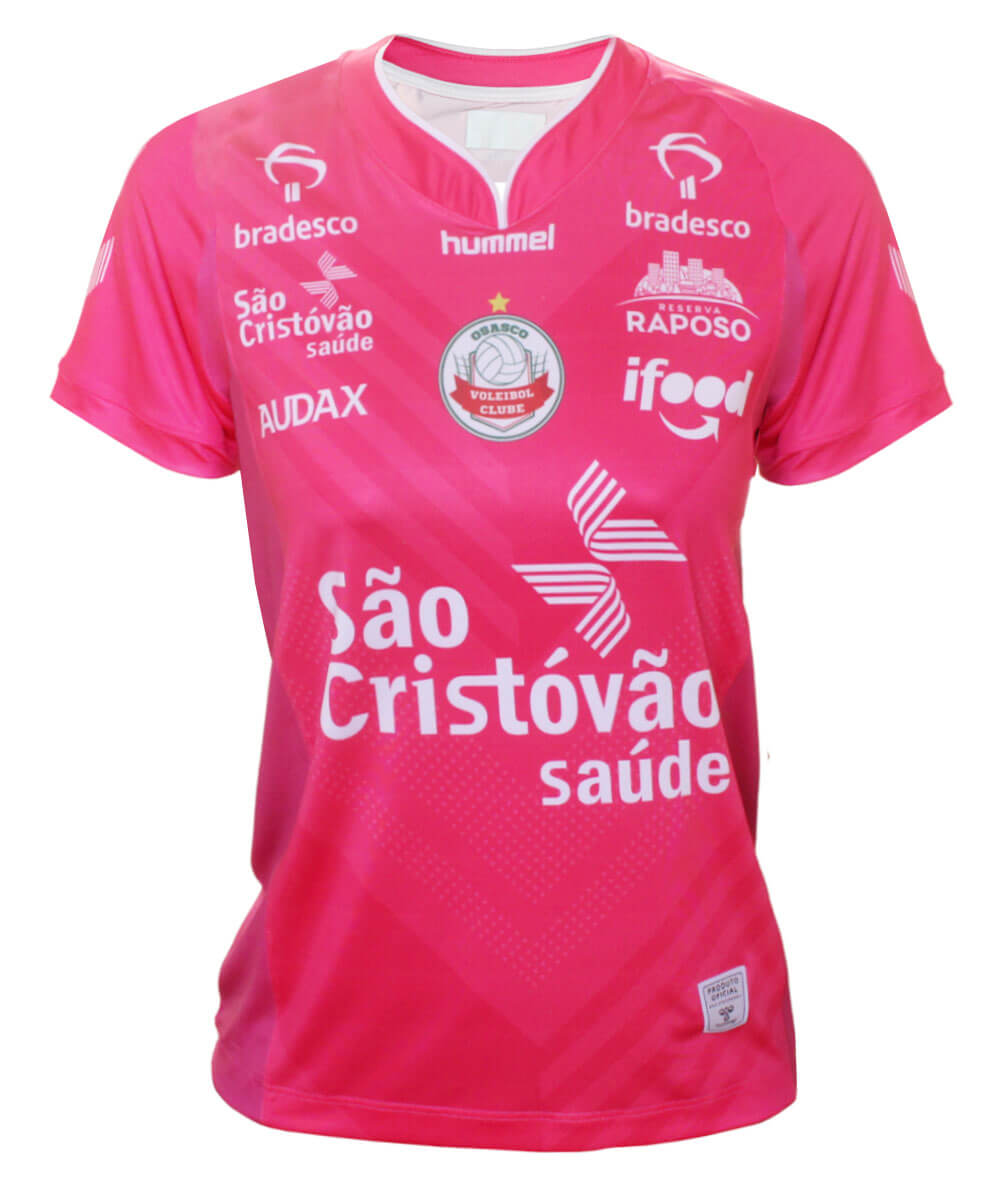 Camisa de Vôlei Osasco 2020/21 Rosa - S/N° - Feminina