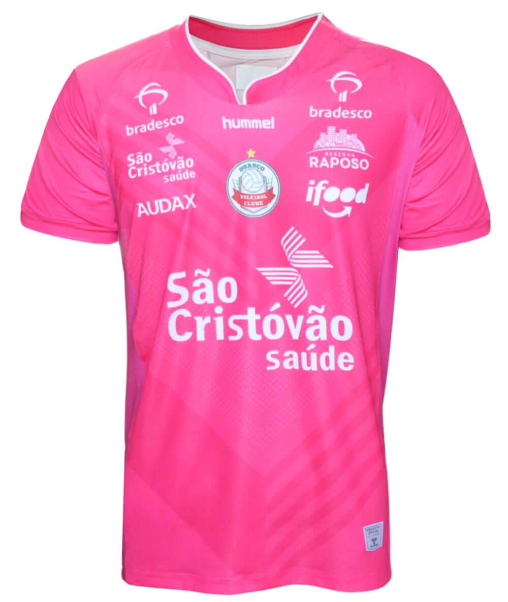 Camisa de Vôlei Osasco 2020/21 Rosa - S/N° - Masculina
