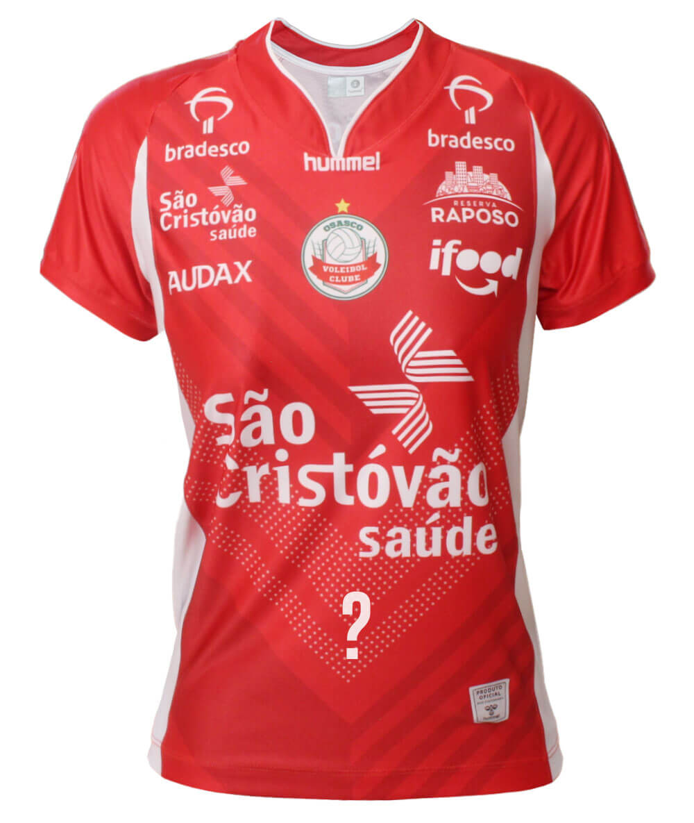 Camisa de Vôlei Osasco 2020/21 Vermelha - Personalizada - Feminina