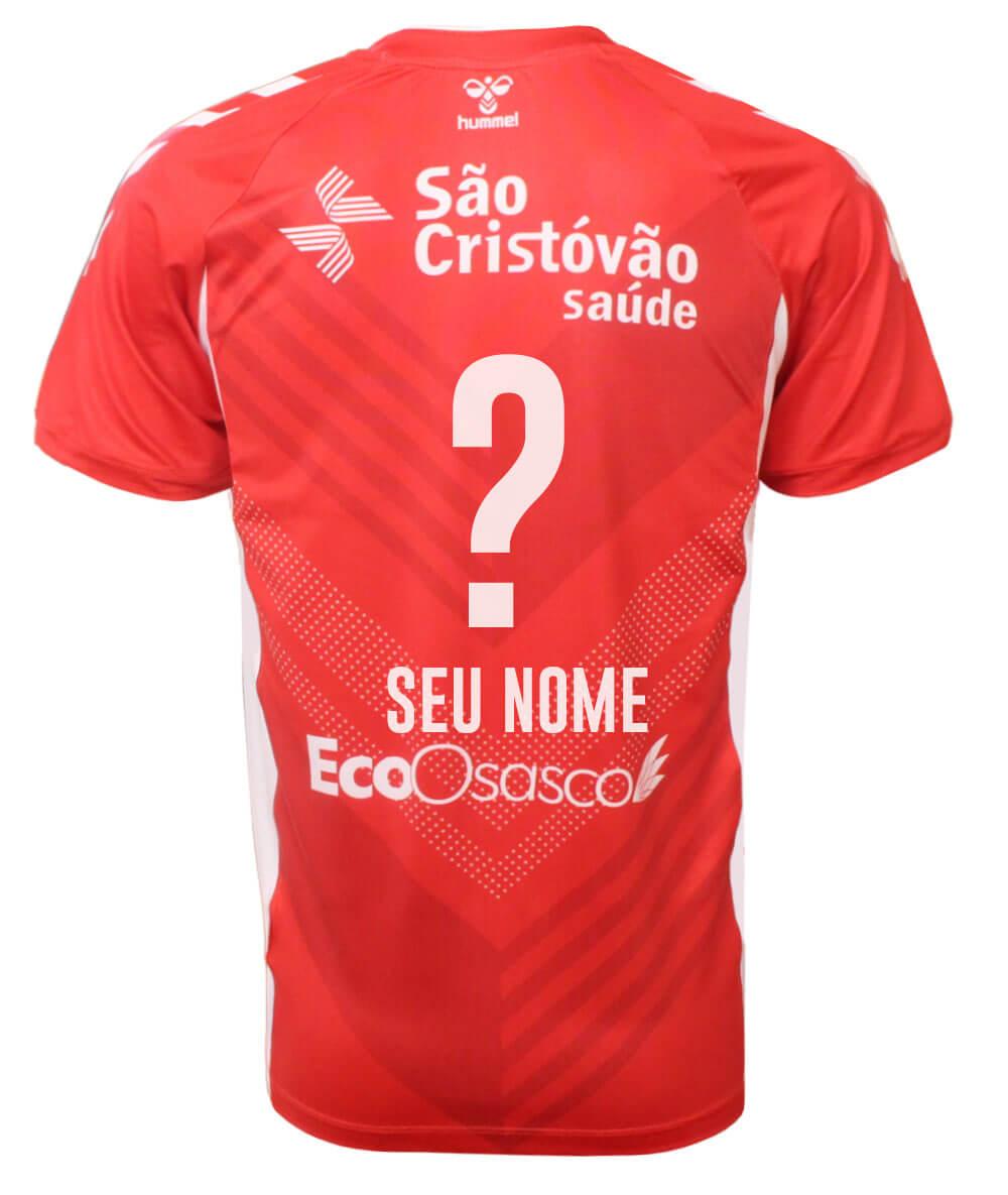 Camisa de Vôlei Osasco 2020/21 Vermelha - Personalizada - Masculina